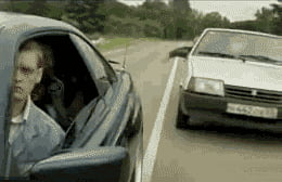 That's one way to stop road rage
