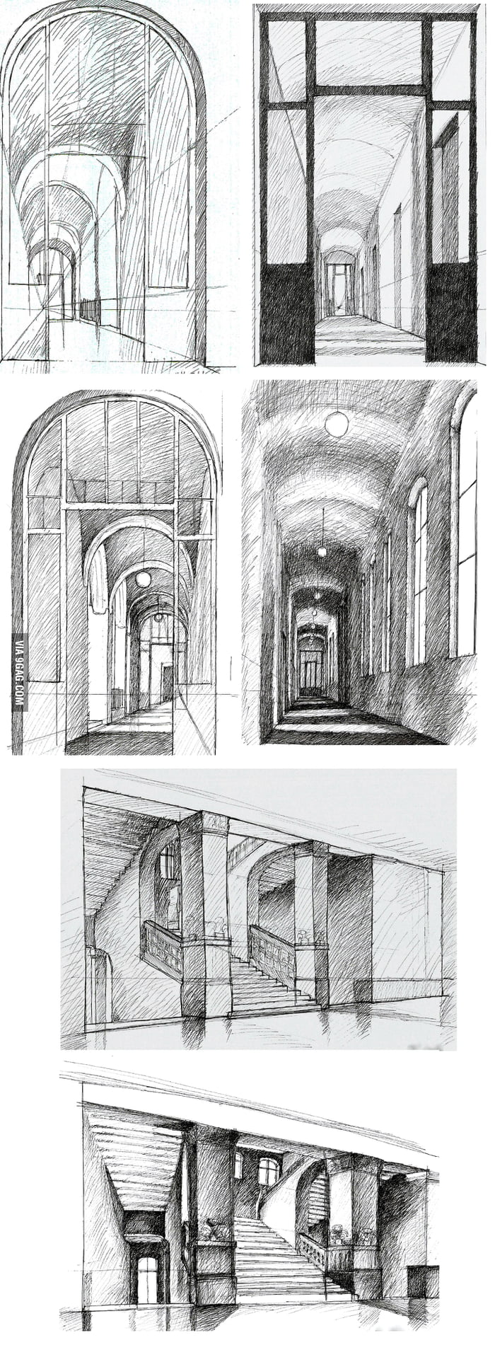 Some of my ink drawings i am a first grader architecture for Architecture students 9gag