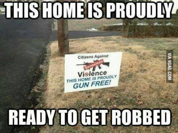 This home is proudly to get robbed!