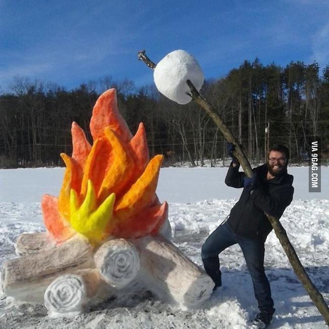 Как сделать на фотографии снег