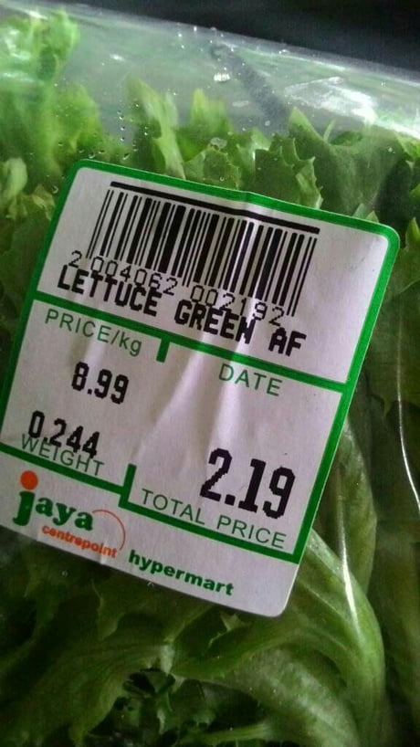 How green the lettuce is?