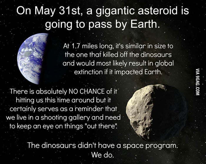 Good guy giant asteroid