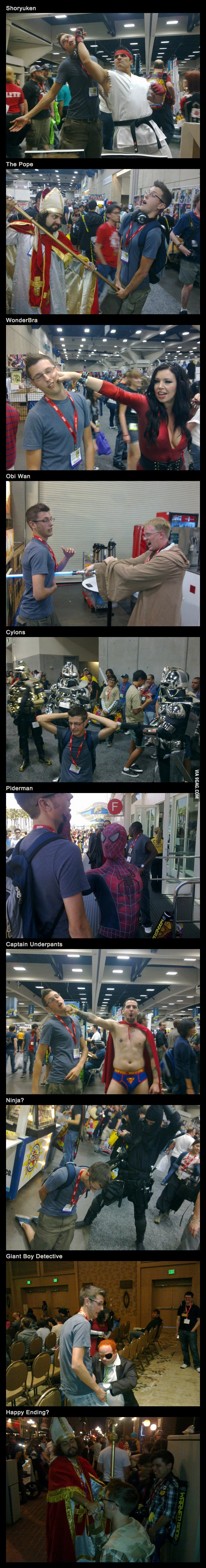 Getting hurt at Comic Con...