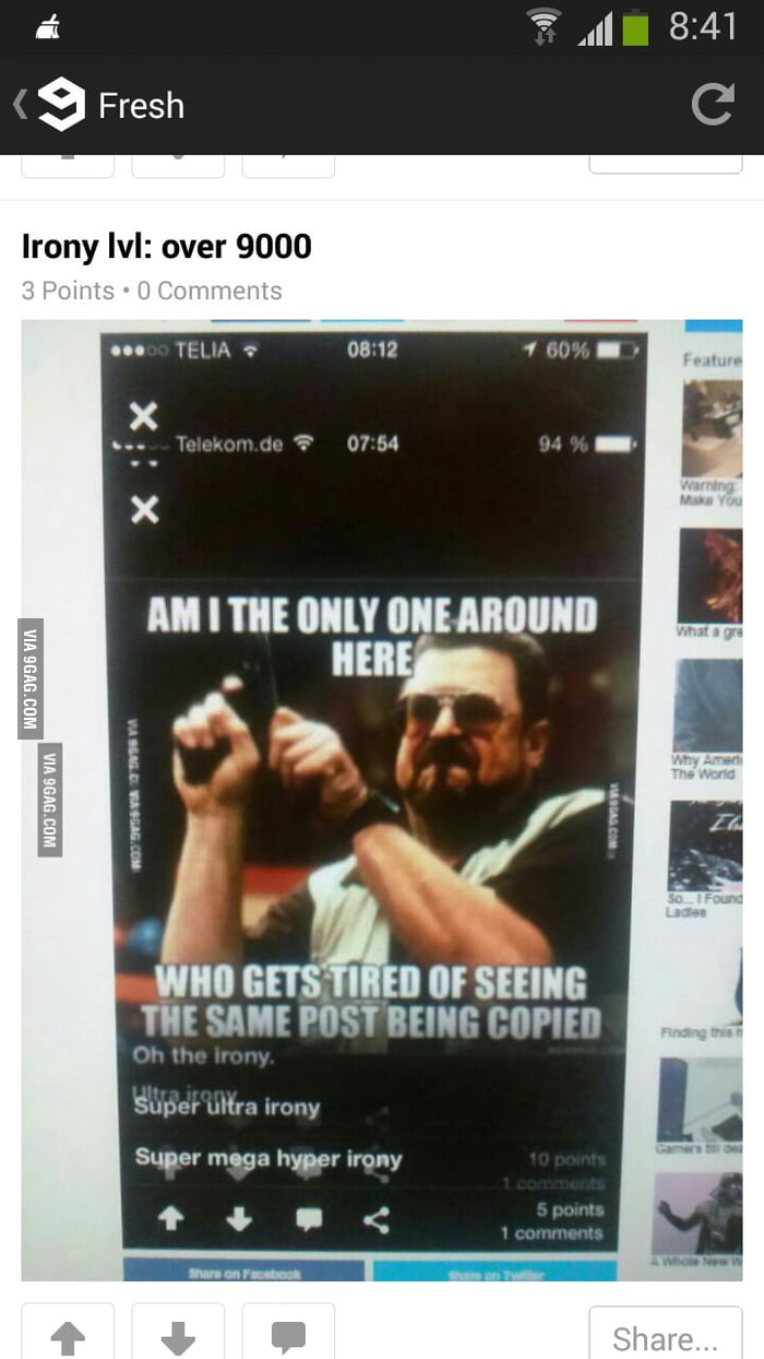 Super over level 900000000000000000 irony - 9GAG