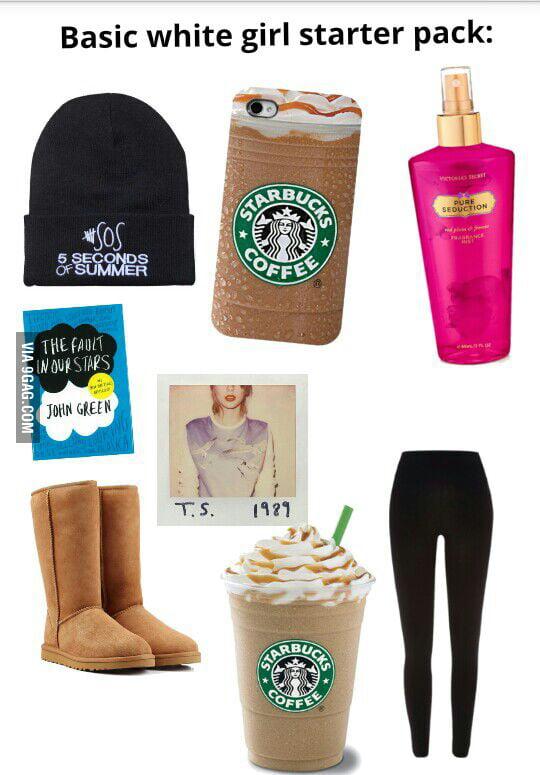 basic white girl starter pack 9gag