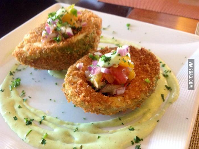 ... avocado with heirloom tomato pico de gallo and lime cilantro crema