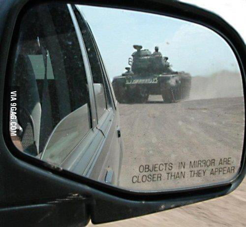 Objects in mirror are closer