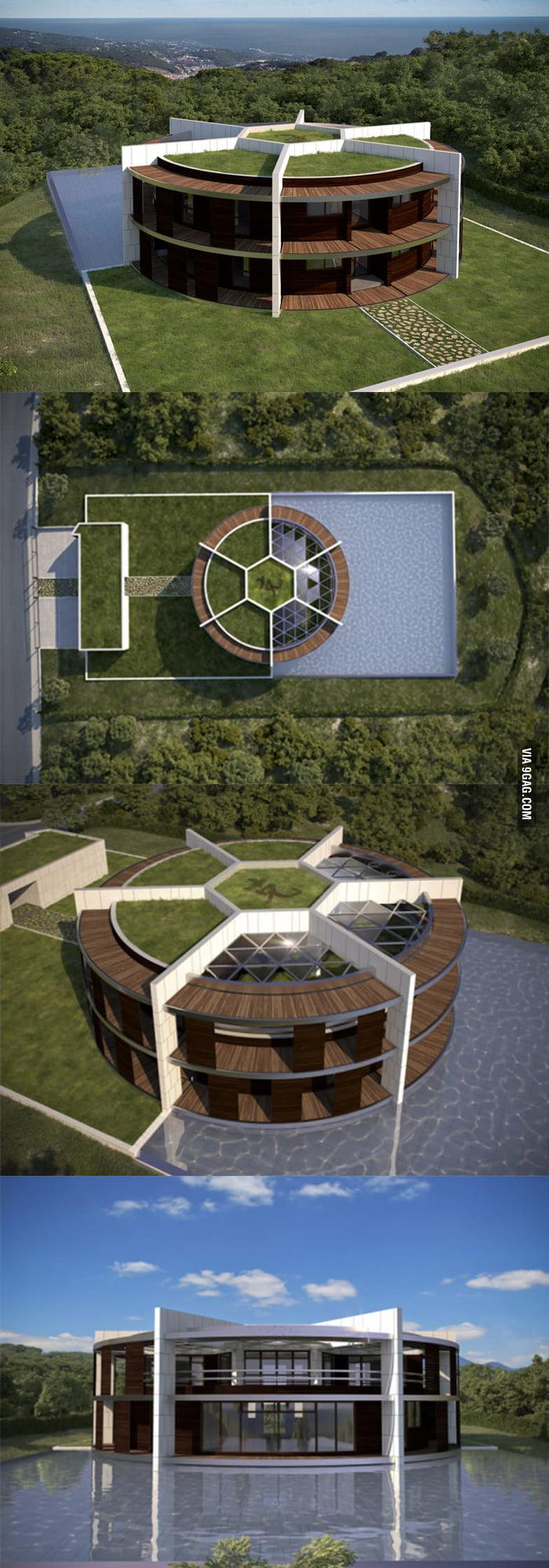 spanish architect has designed a conceptual mansion for lionel messi 9gag. Black Bedroom Furniture Sets. Home Design Ideas