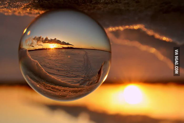 Refracted in an acrylic ball