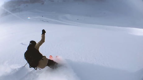 Skier shoots matrix style video while swinging iPhone around on string