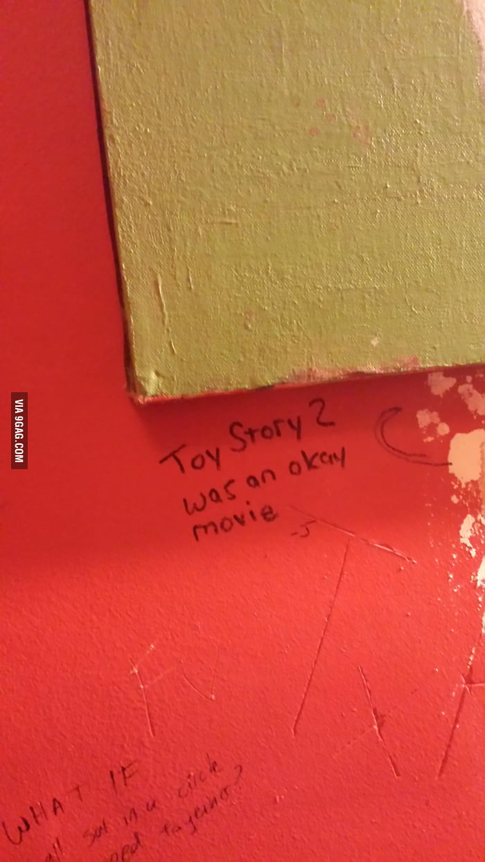 Grafitti in the bathroom of the heavy metal music bar i for Bathroom 9gag