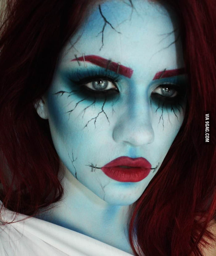 Corpse Bride Makeup Pictures : My Corpse Bride costume makeup. - 9GAG