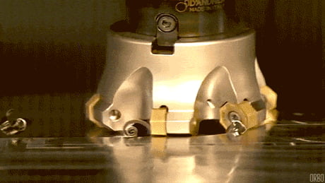 Super slow-mo of an 'octopus' cutting tool
