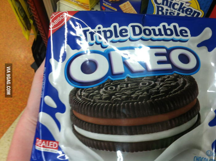 What a time to be alive. Triple Double Oreo!