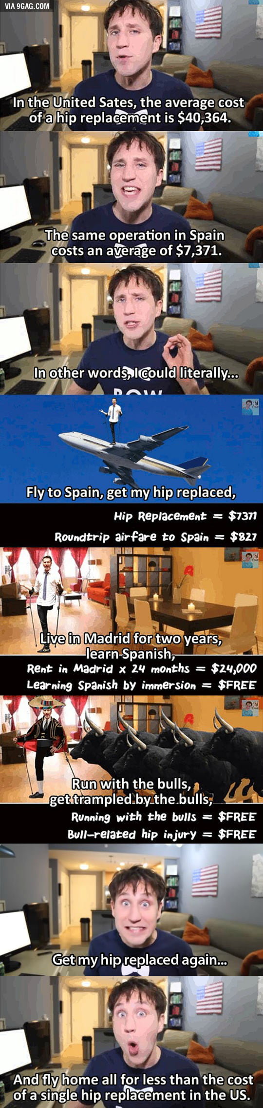 The cost of a hip replacement is too damn high!