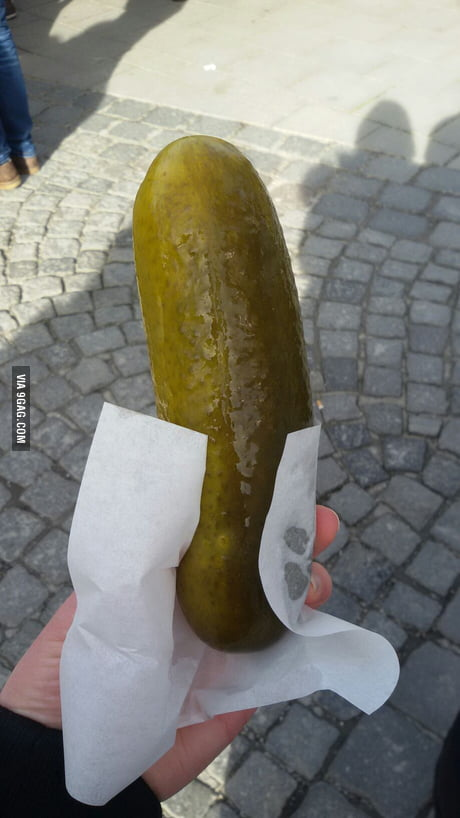 Pickled cucumber to go (apparently a thing in Germany)