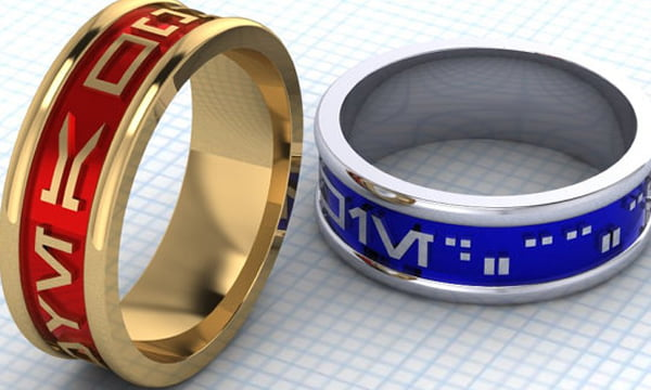 I never liked the idea of marriage but, as a true geek, these rings made me reconsider..
