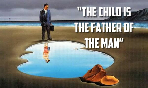 the child is the father of