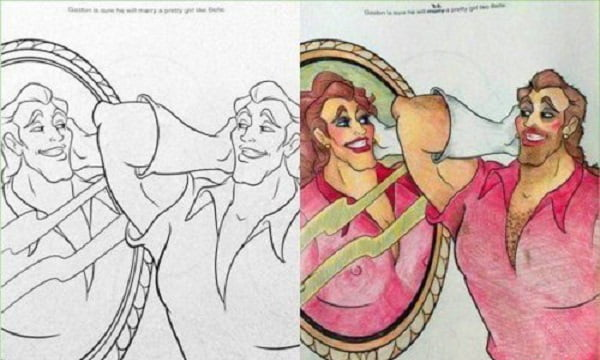 When An Adult Gets Hold Of A Coloring Book