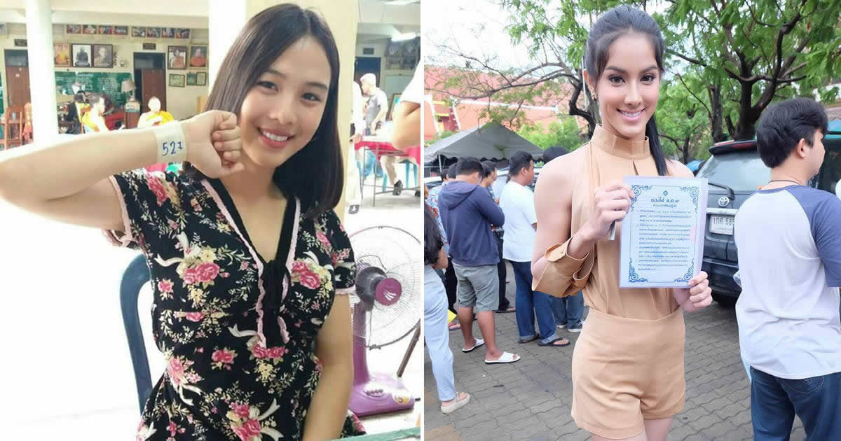 Thai ladyboys turn up for national army service in skirts and make