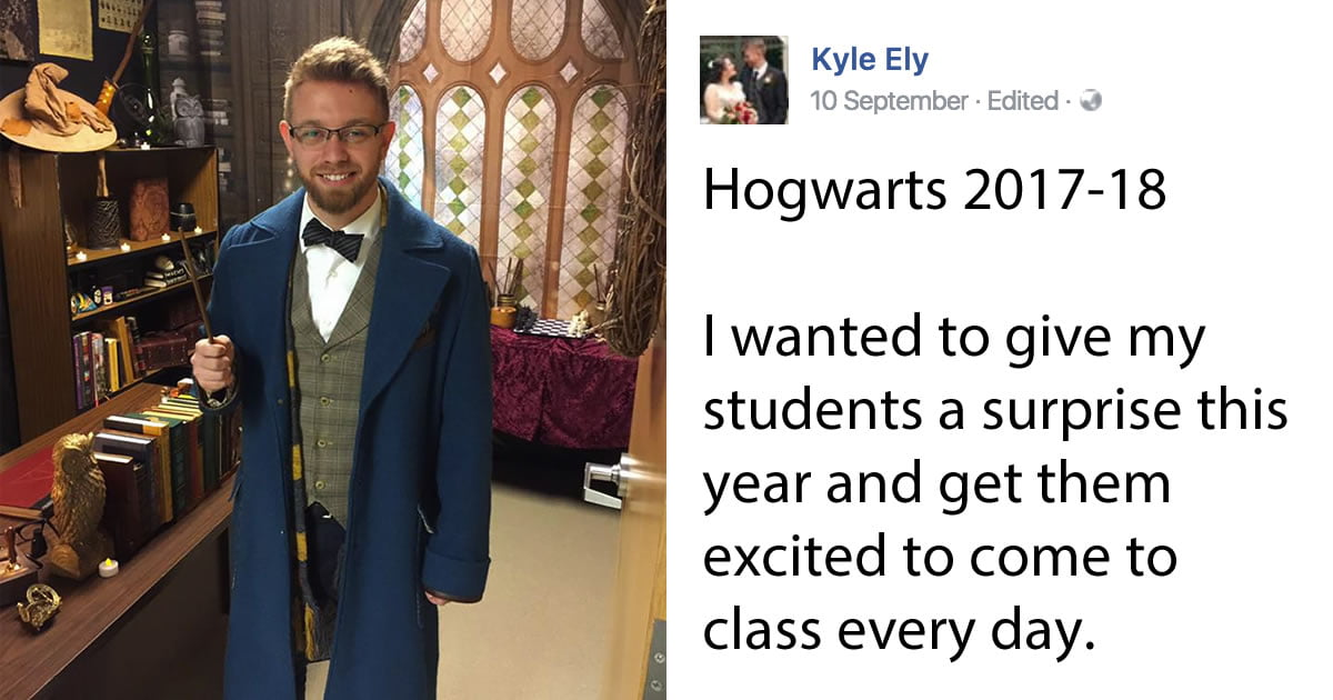 Teacher Creates A 'Harry Potter'-Themed Classroom To Give His Students A Magical Year