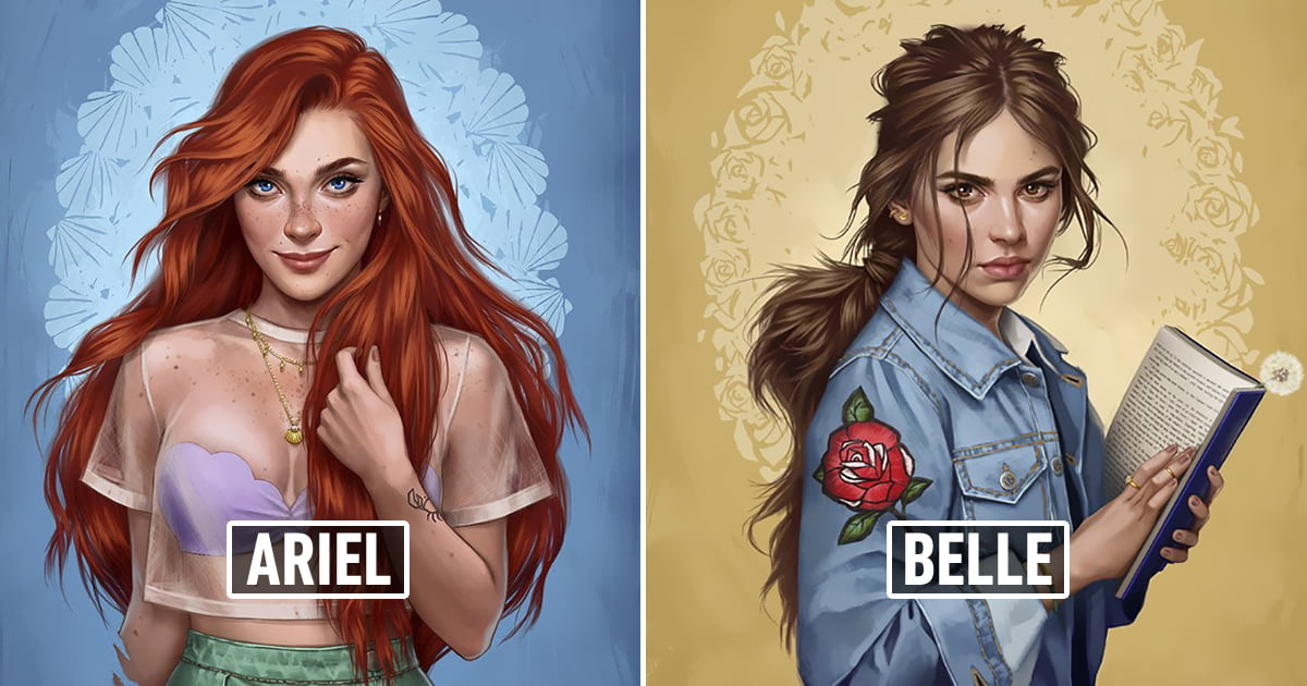 This is how Disney princesses look like if they lived in 2017