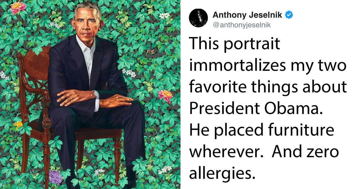 15+ Brilliant Reactions To Barack Obama's Portraits At The National Portrait Gallery