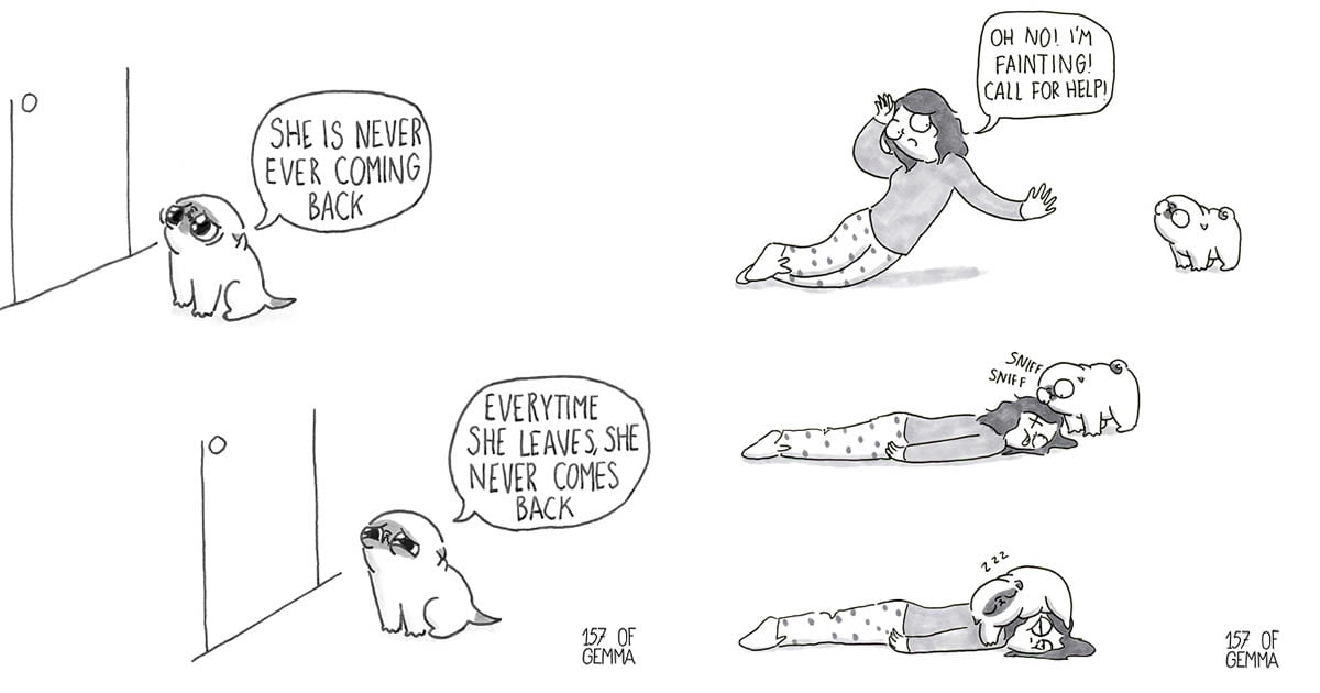 This Comic Perfectly Captured What It's Like Living With A Dog