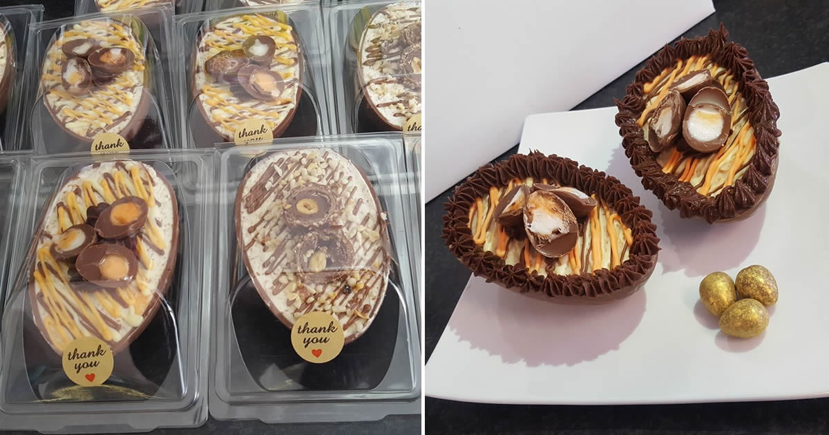 A Cafe Is Selling Easter Eggs Filled With Creme Eggs And Ferrero Rocher Cheesecakes