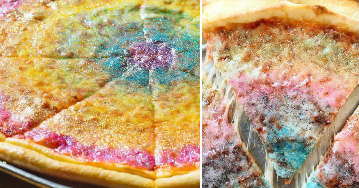 Rainbow Pizza Exist And Nothing Is Safe From Edible Glitter