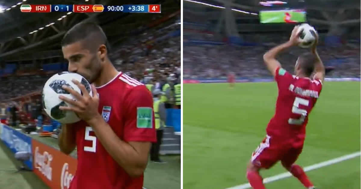 Iran's Milad Mohammadi Did The Greatest Throw-in In World Cup History