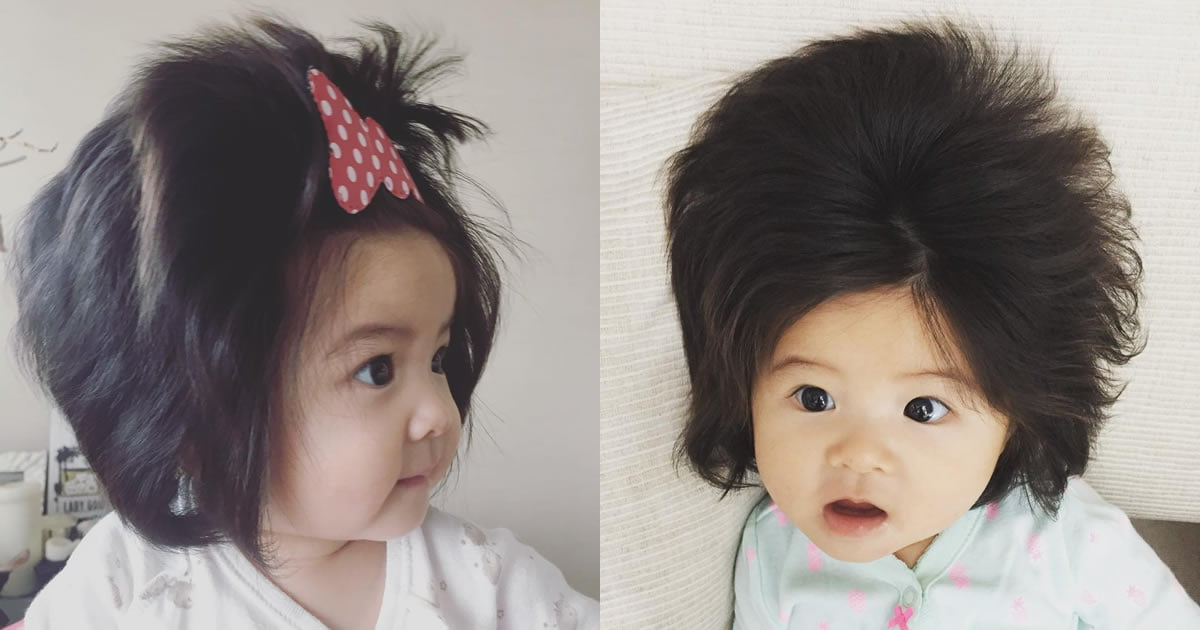 This Half-Year-Old Baby Girl Has A Ridiculous Head Of Hair