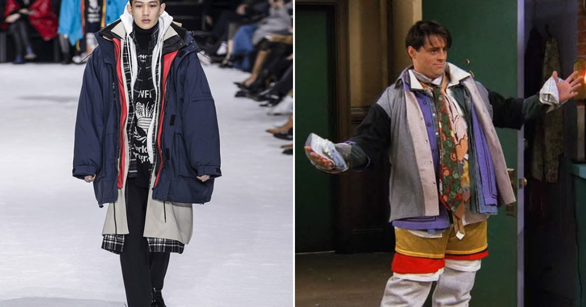 84864005ed This $9,000 Coat Totally Looks Like Joey's Outfit On Friends