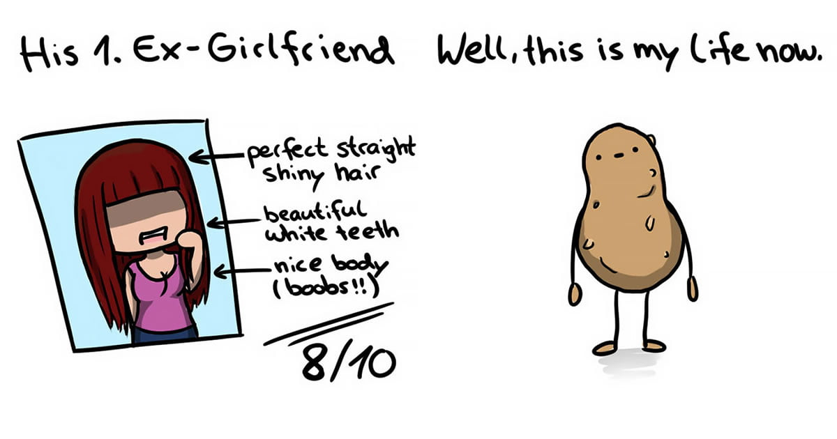 This Artist Reimagined Her Life As A Potato In Comics