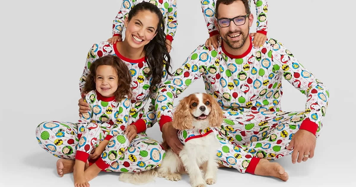 Target Is Selling Matching Holiday Pajamas For The Entire Family Even For Your Dog