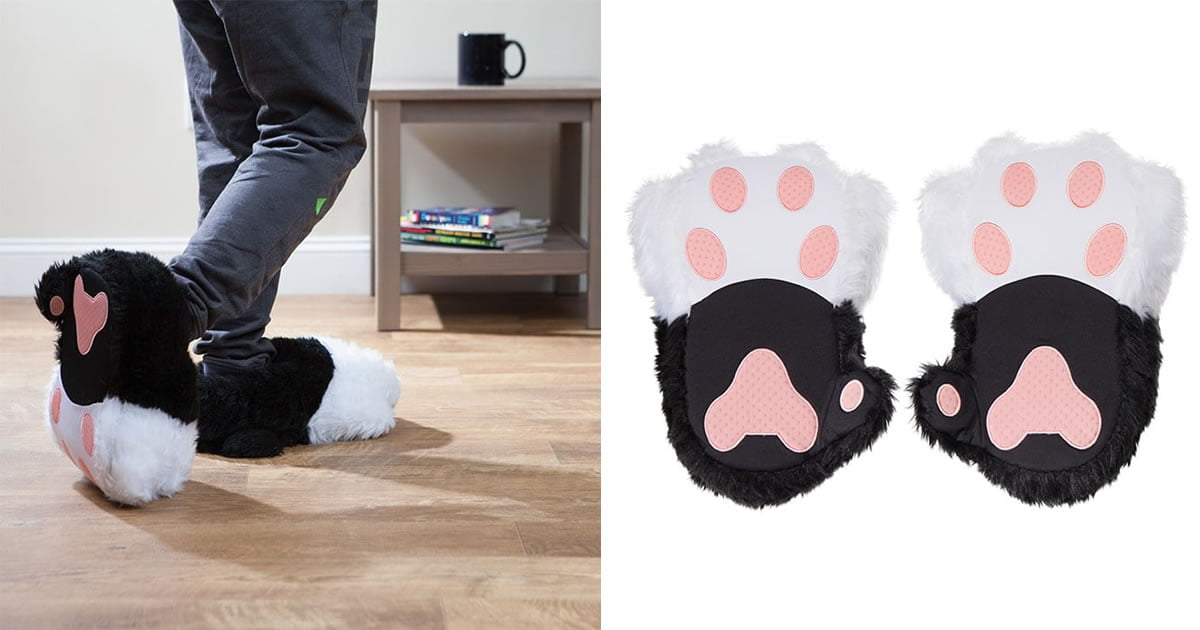 These Cat Slippers Purr When You Walk