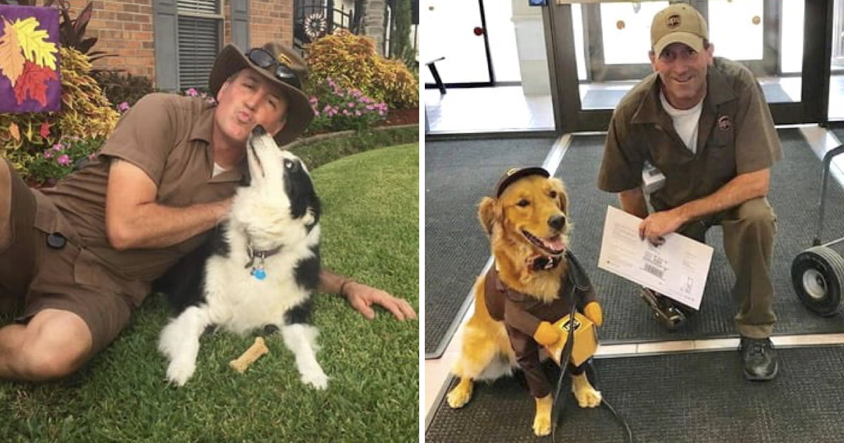 UPS Drivers Created A Page Dedicated To Dogs They Meet On The Job