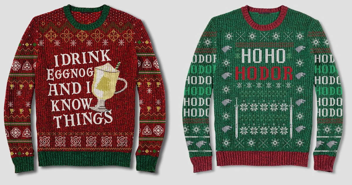 Game Of Thrones Ugly Sweaters Exist Cause Night Is Dark And Full Of Terrors