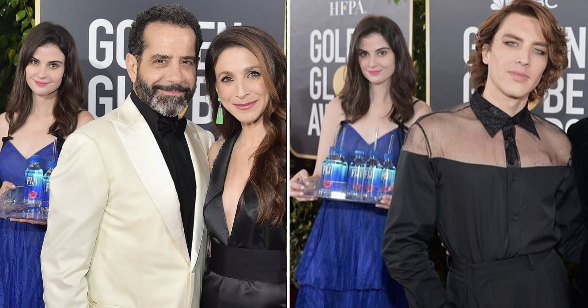 Fiji Water Girl Steals The Show During Golden Globes