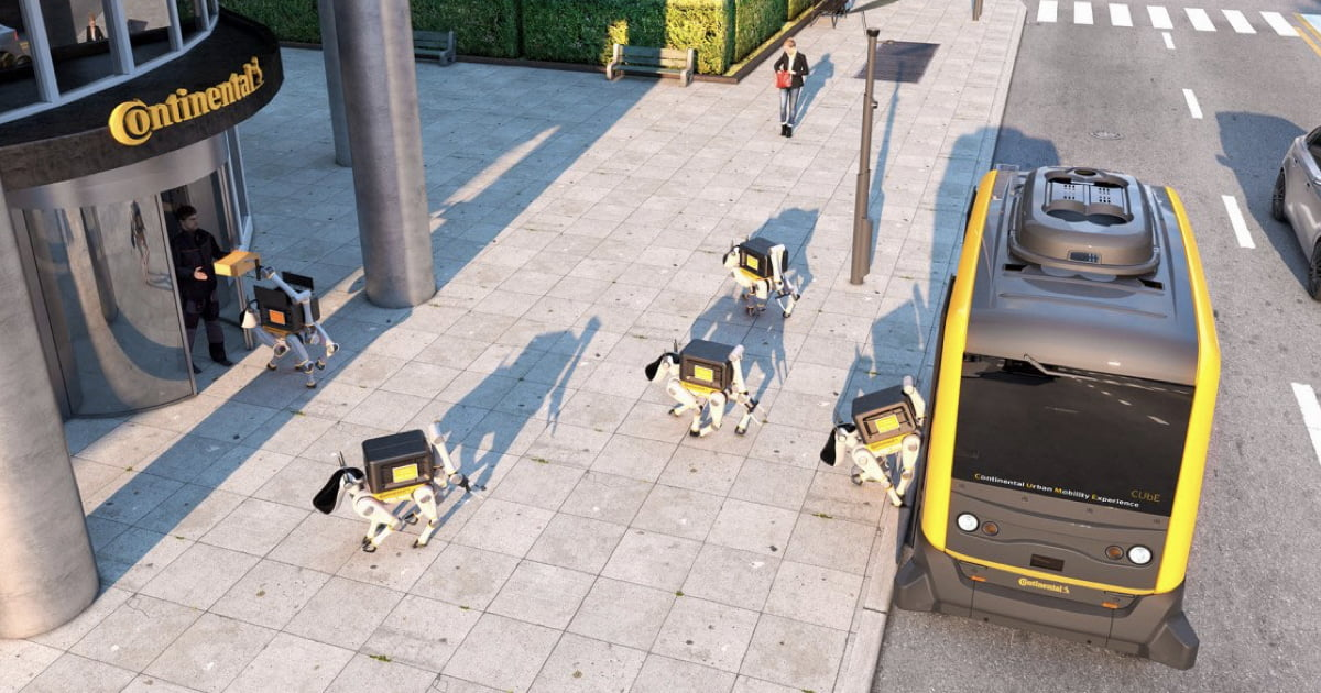 Robot Delivery Dogs Riding In Driverless Cars Could Deliver Parcels To Your Doorstep