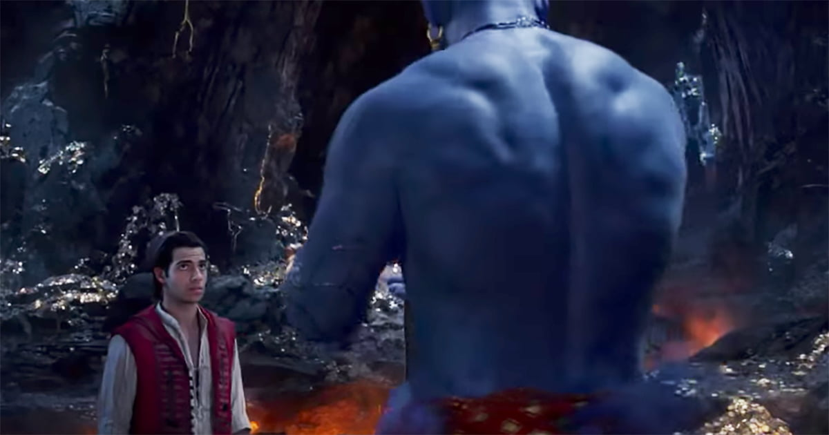 """New """"Aladdin"""" Trailer Gives The First Look At Will Smith As Genie"""