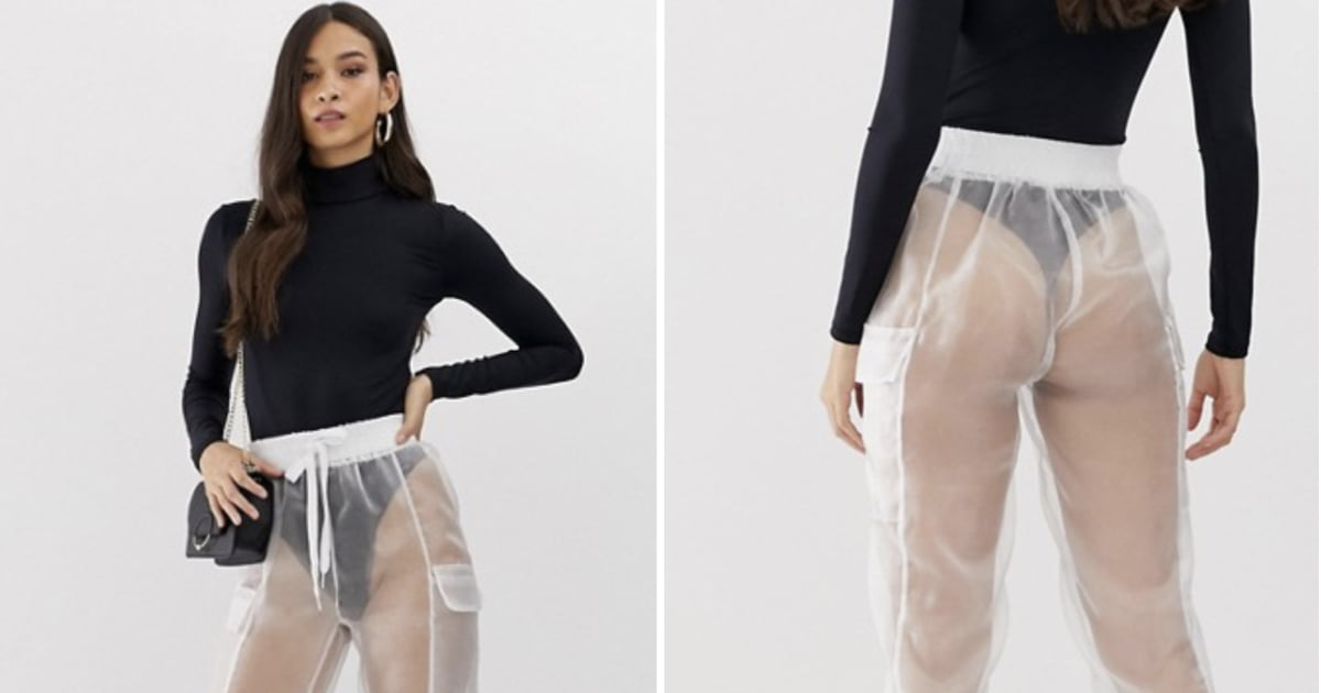 People Are Baffled By These $52 See-Through Trousers