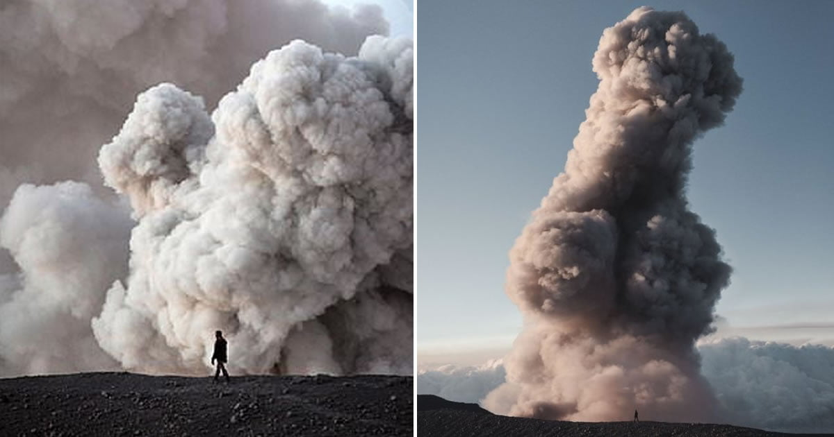 Volcano Erupts Into Shape Of Giant Penis