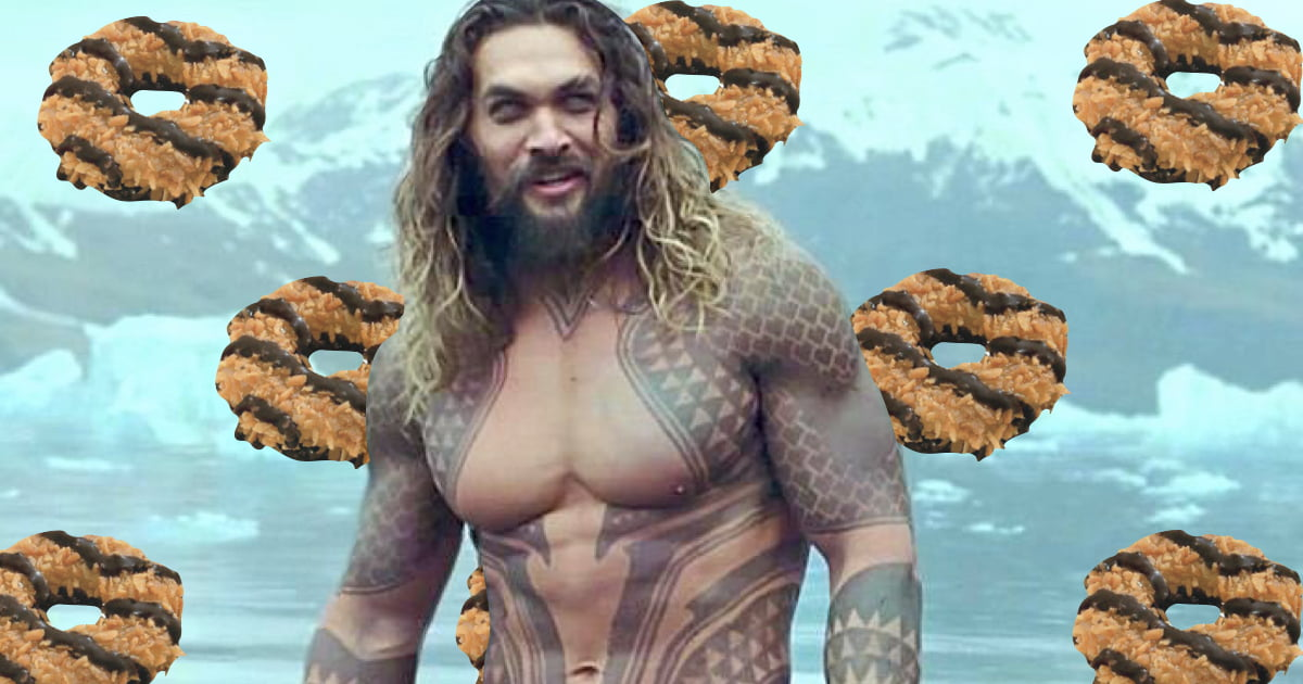 Smart Girl Scout Put A Picture Of Shirtless Jason Momoa On Cookie