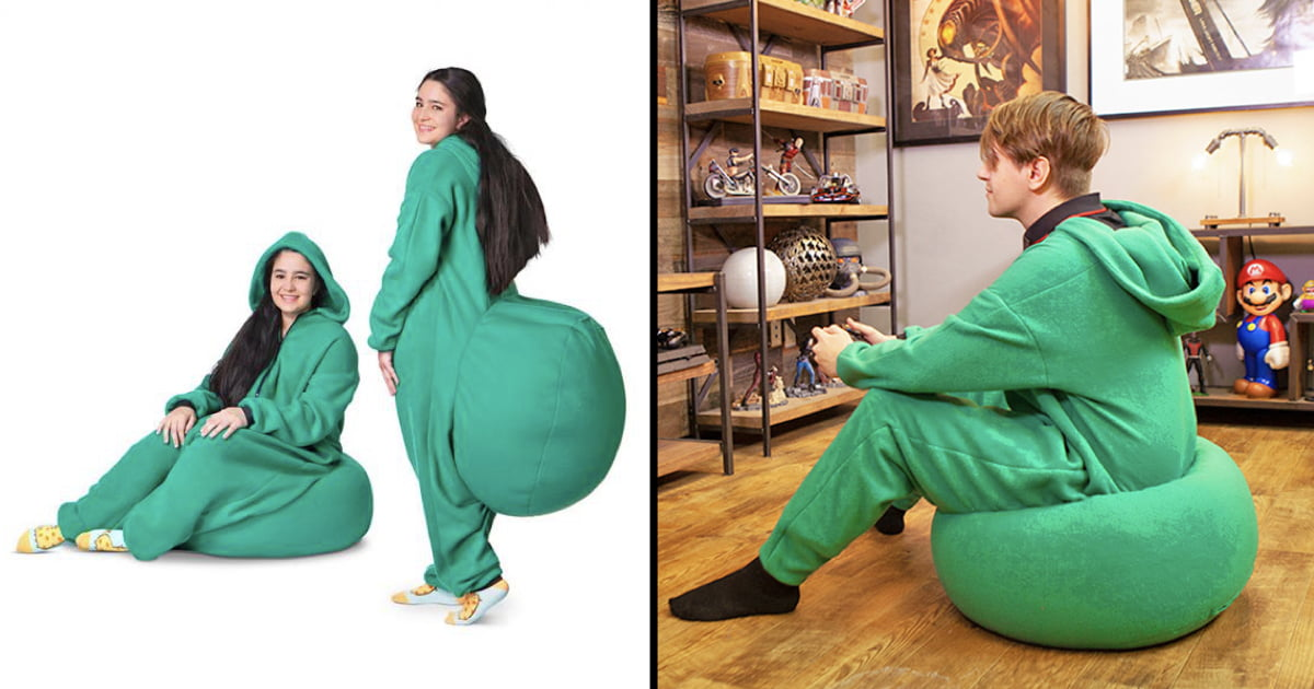 Terrific With This Bean Bag Onesie You Can Sit Down Anywhere You Want Ibusinesslaw Wood Chair Design Ideas Ibusinesslaworg