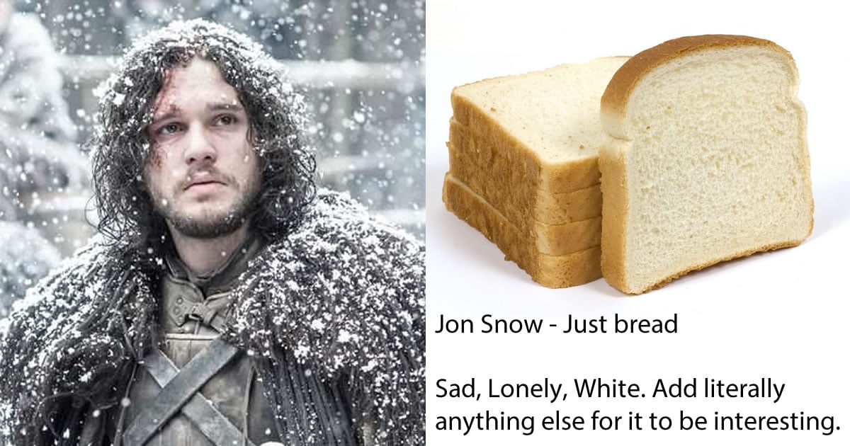 Woman Recreates 'Game Of Thrones' Male Characters As Sandwiches