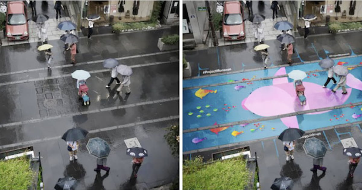 Water-Activated Street Murals Come to Life When It Rains