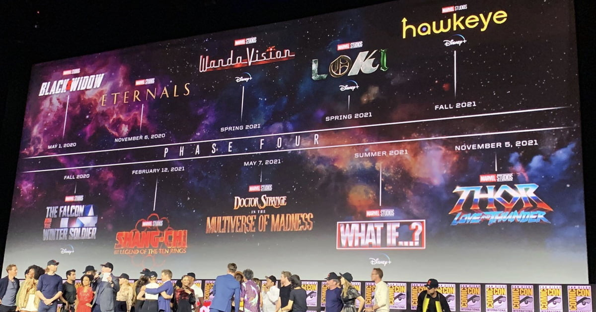 Here's The Complete Lineup Of Marvel's Plan For Phase 4