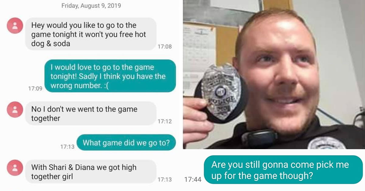 "Texter Accidentally Texts Police Officer Saying ""We Got High Together"""