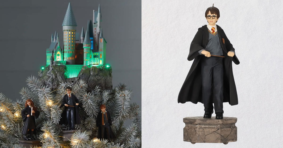 Your Christmas Tree Needs This Harry Potter Hogwarts Tree Topper With Music